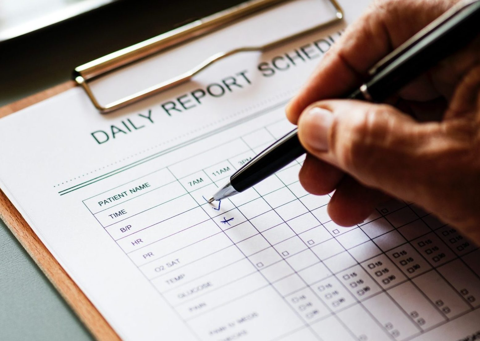 Daily report schedule